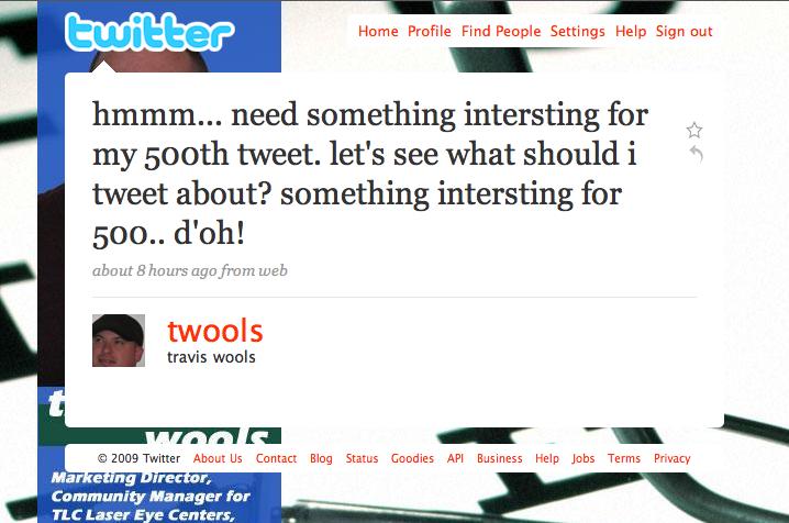 @twools Tweet #500 - D'oh!