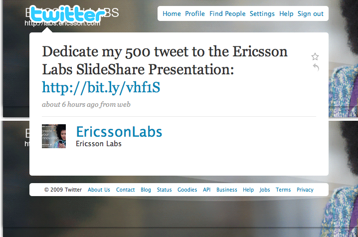 @EricssonLabs Tweet #500 - Slide 5 was when I closed the window.