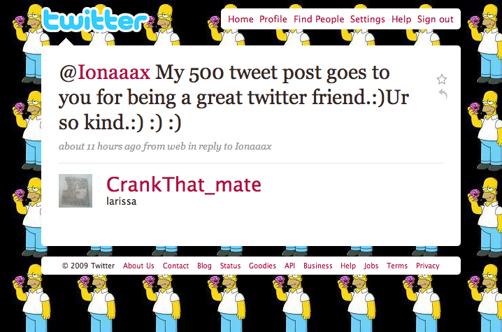 @CrankThat_mate Tweet #500 - What are friends for?