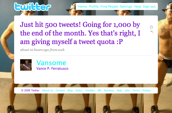 @Vansome Tweet #500 - The goggles, they do nothing!